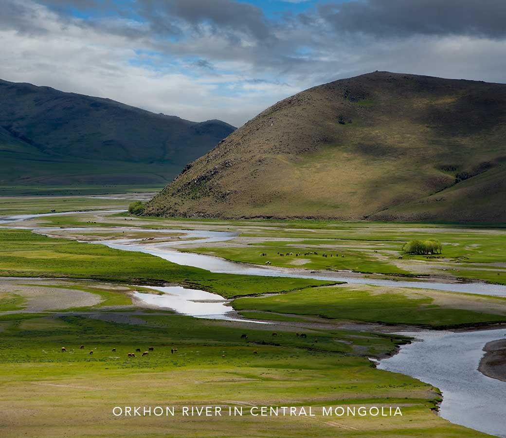 Orkhon River in Central Mongolia