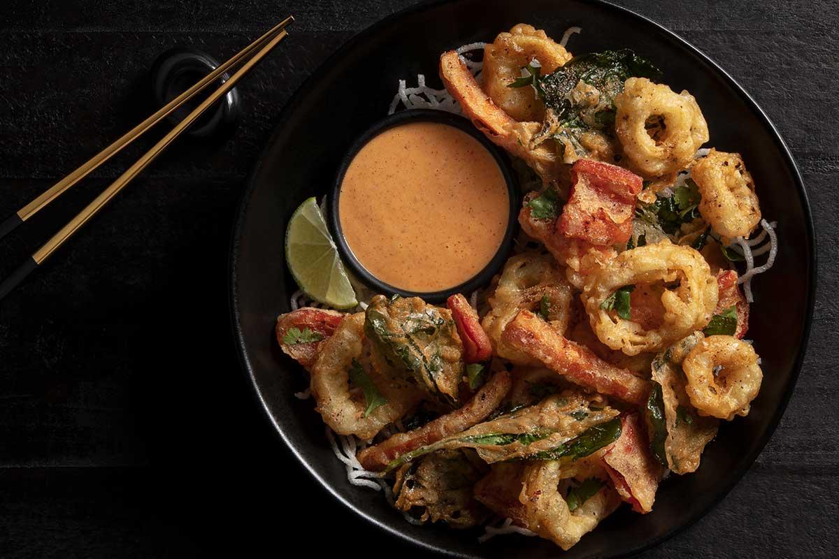 Tempura Calamari and Vegetables
