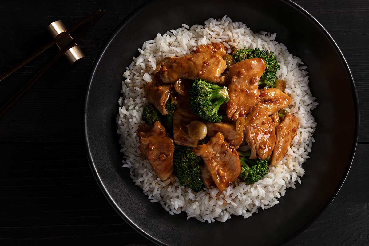 Ginger Chicken with Broccoli Bowl