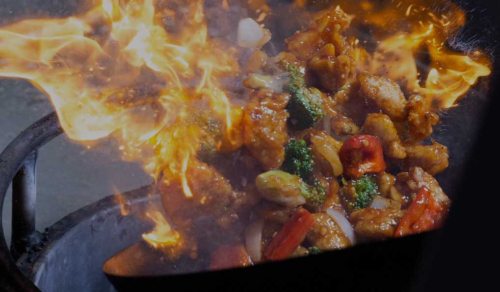 Stir fry over a fire